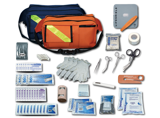 EMI Trauma Pack and first aid kit